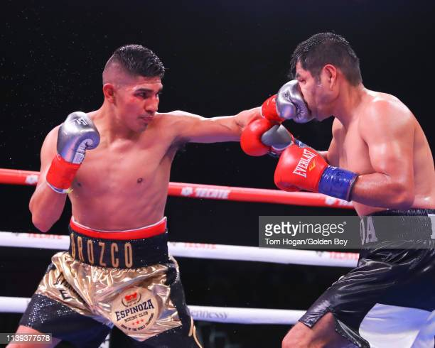 Antonio Orozco landing a jab on Jose Rodriguez during their bout on March 30 at Fantasy Springs Casino in Indio CA