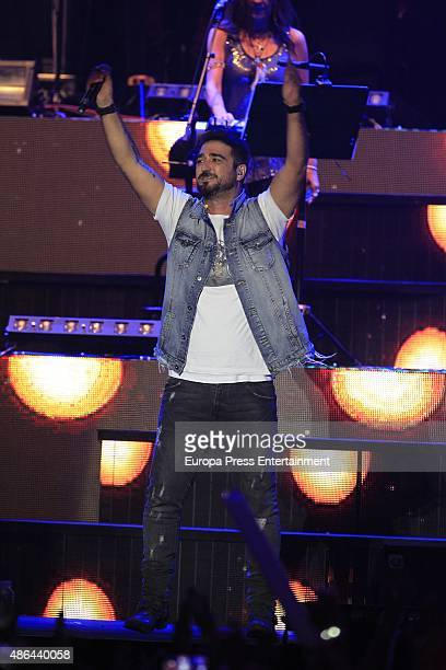Antonio Orozco performs during 'Cadena Dial' 25th Anniversary concert on September 3 2015 in Madrid Spain