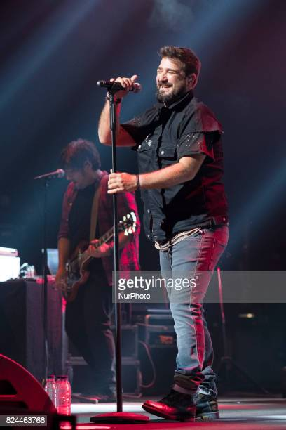Antonio Orozco performs during the Universal Music Festival at The Royal Theater on July 30 2017 in Madrid Spain