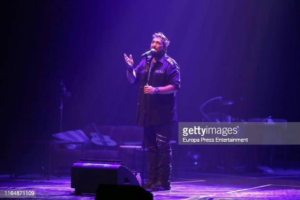 Antonio Orozco performs in Concert at Royal Palace on July 27 2019 in Madrid Spain