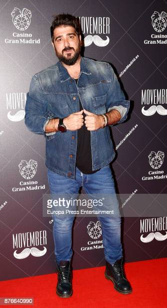 Antonio Orozco poses during his concert at Torrelodones Casino on November 18 2017 in Madrid Spain