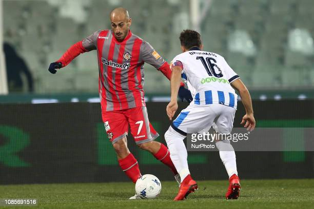 Antonio Piccolo US Cremonese in action during the Italian Serie B 2018/2019 match between Pescara Calcio 1936 FC and US Cremonese at Stadio Adriatico...