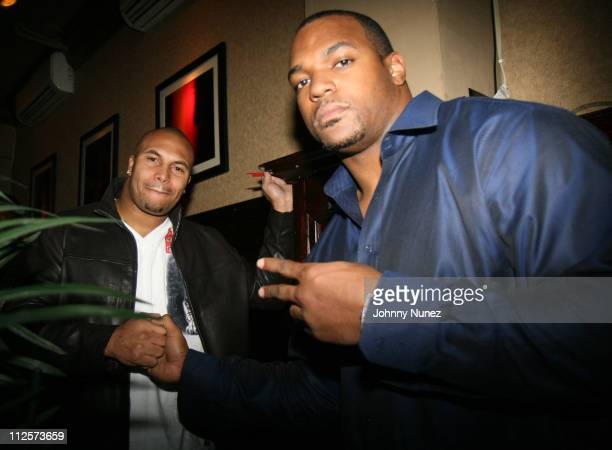 Antonio Pierce and Dwight Freeney of the Indianapolis Colts attends Birthday Celebration for Dwight Freeney of the Indianapolis Colts at The Plumm...