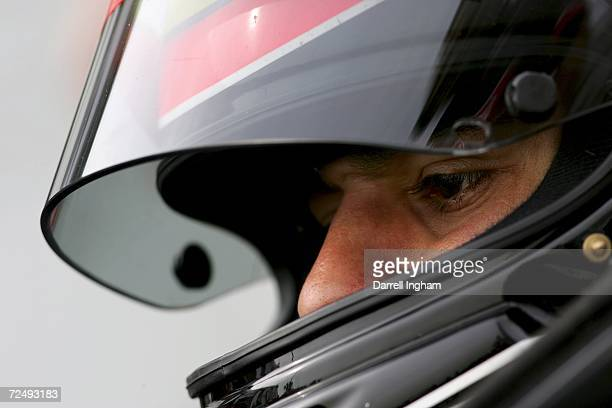 Antonio Pizzonia aboard the Rocketsports Racing Lola Cosworth looks on during practice for the Champ Car World Series Gran Premio Telmex at the...