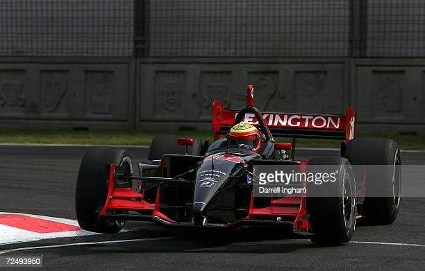 Antonio Pizzonia drives the Rocketsports Racing Lola Cosworth during practice for the Champ Car World Series Gran Premio Telmex at the Autodromo...