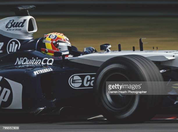 Antonio Pizzonia of Brazil drives the BMW Williams F1 Team Williams FW26 BMW V10 during practice for the Formula One Italian Grand Prix on 12...