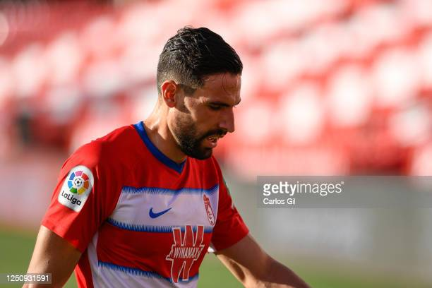 Antonio Puertas of Granada CF reacts during the Liga match between Granada CF and Villarreal CF at on June 19 2020 in Granada Spain