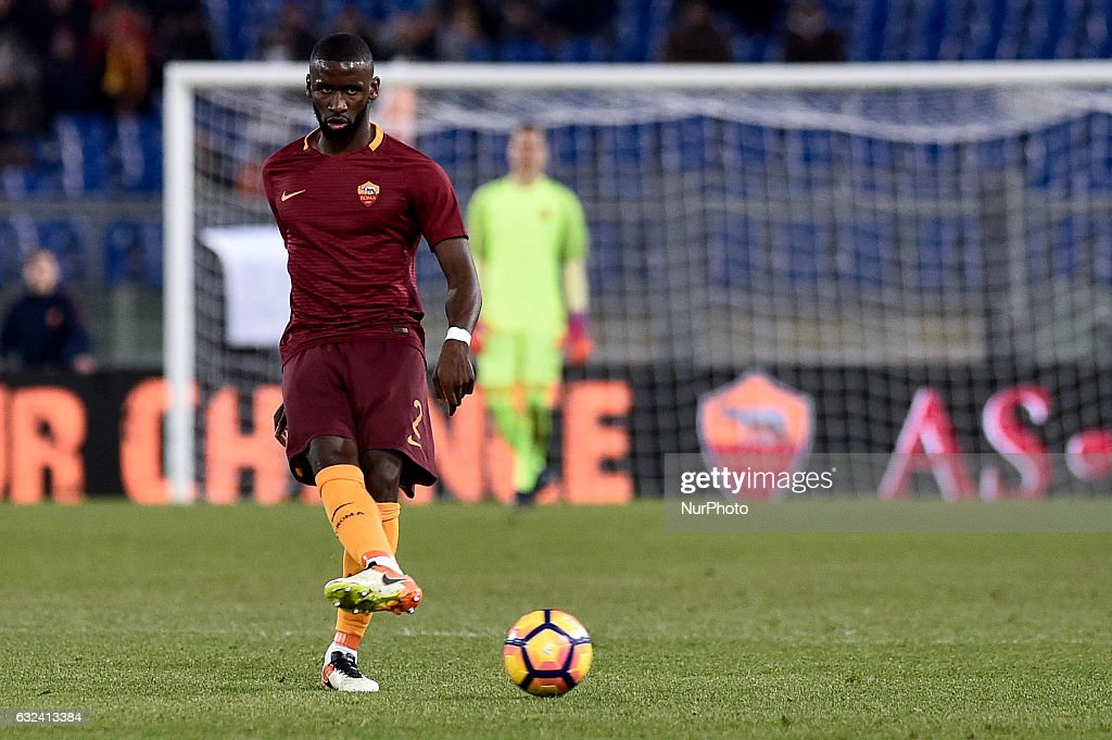Antonio Rdiger of AS Roma during the Serie A match between Roma and Cagliari at Stadio Olimpico, Rome, Italy on 22 January 2017. Photo by Giuseppe Maffia.