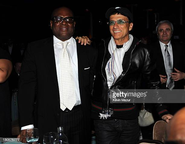 Antonio 'LA' Reid and Jimmy Iovine at the 52nd Annual GRAMMY Awards Salute To Icons Honoring Doug Morris held at The Beverly Hilton Hotel on January...