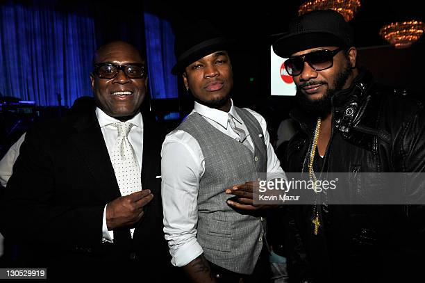 Antonio 'LA' Reid and NeYo at the 52nd Annual GRAMMY Awards Salute To Icons Honoring Doug Morris held at The Beverly Hilton Hotel on January 30 2010...