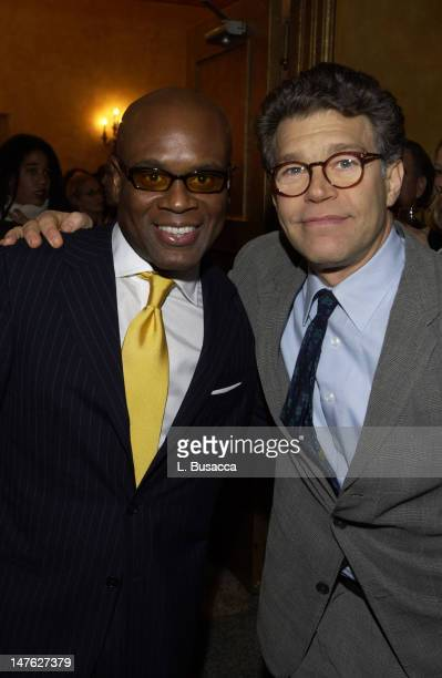Antonio 'LA' Reid with Al Franken during Arista Records CoSponsors Benefit for PENCIL featuring Avril Lavigne and Blu Cantrell at Hammerstein...