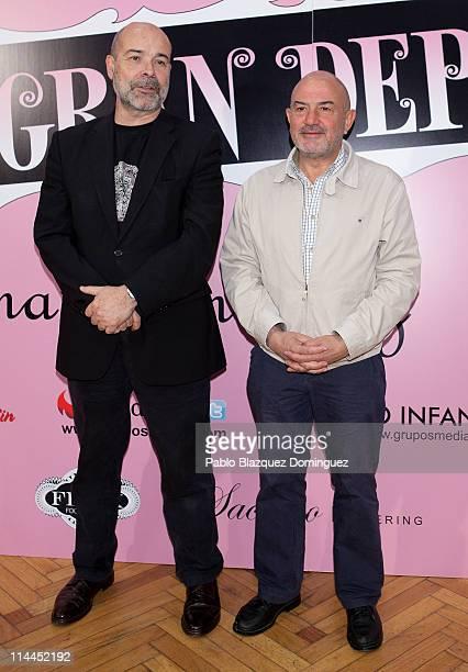 Antonio Resines and Jesus Bonilla attend 'La Gran Depresion' premiere at Infanta Isabel Theatre on May 19, 2011 in Madrid, Spain.