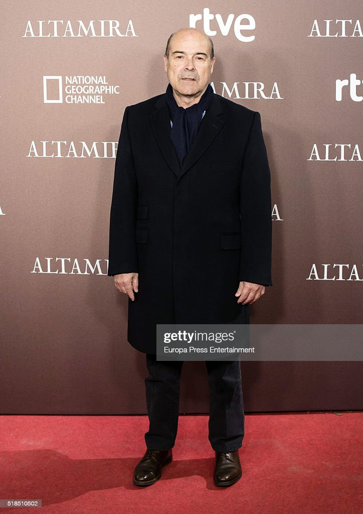 Antonio Resines attends 'Altamira' premiere at Callao cinema on March 31, 2016 in Madrid, Spain.