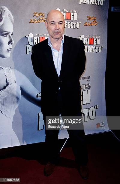 Antonio Resines attends the Crimen Perfecto premiere photocall at Reina Victoria theatre on September 14 2011 in Madrid Spain