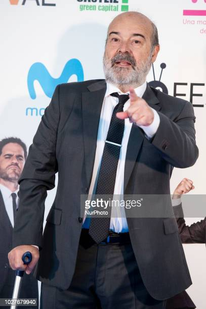 Antonio Resines attends to presentation of new comedian schedule of during FestVal in Vitoria Spain September 06 2018