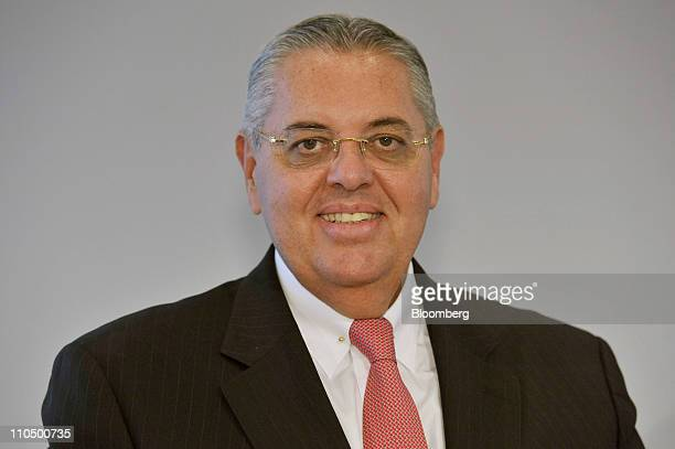 Antonio Roberto Cortes Latin America president of MAN SE poses for a photograph during the company's news conference in Munich Germany on Monday...