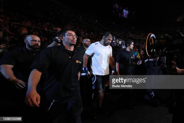 Antonio Rogerio Nogueira of Brazil enters the arena prior to facing Sam Alvey in their light heavyweight bout during the UFC Fight Night event at...