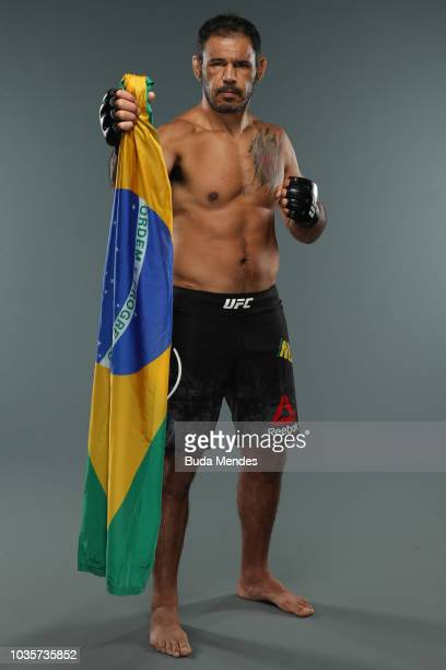 Antonio Rogerio Nogueira of Brazil poses for a portrait during a UFC photo session on September 18 2018 in Sao Paulo Brazil