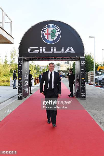 Antonio Rossi arrives at Bocelli and Zanetti Night on May 25 2016 in Rho Italy