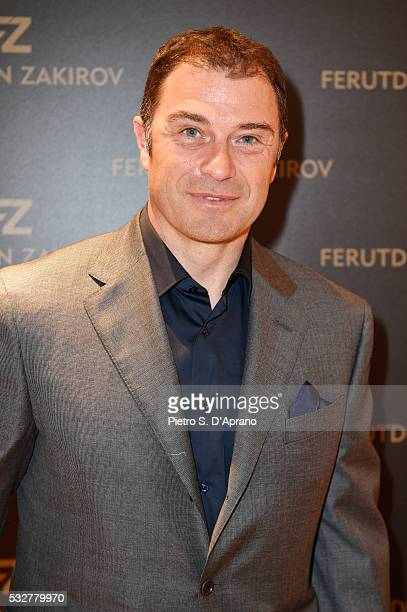 Antonio Rossi attends Ferutdin Zakirov Boutique Opening on May 19 2016 in Milan Italy