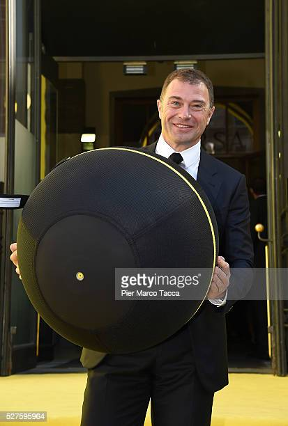 Antonio Rossi attends the Technogym Listing Ceremony at Palazzo Mezzanotte on May 3 2016 in Milan Italy Technogym is the world leader in the...