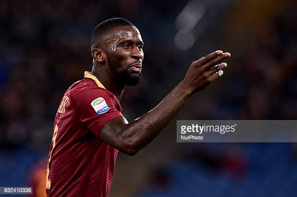 Antonio Rudiger of AS Roma during the Serie A match between Roma and Cagliari at Stadio Olimpico, Rome, Italy on 22 January 2017. Photo by Giuseppe...