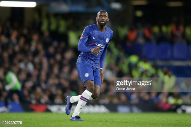 Antonio Rudiger of Chelsea during the FA Cup Fifth Round match between Chelsea FC and Liverpool FC at Stamford Bridge on March 03 2020 in London...