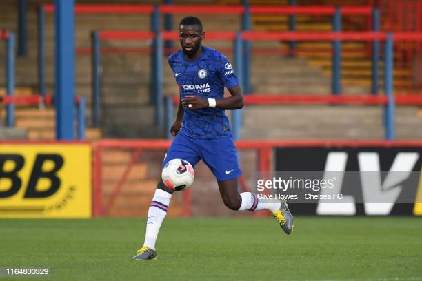 Antonio Rudiger of Chelsea during the Premier League 2 match between Chelsea FC and Tottenham Hotspur match at the The Electrical Services Stadium on...