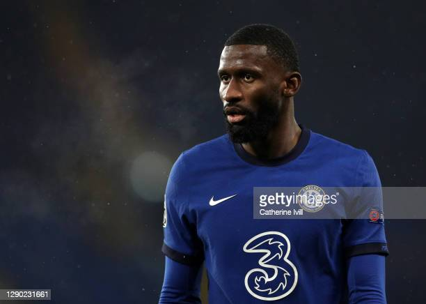 Antonio Rudiger of Chelsea during the UEFA Champions League Group E stage match between Chelsea FC and FC Krasnodar at Stamford Bridge on December...