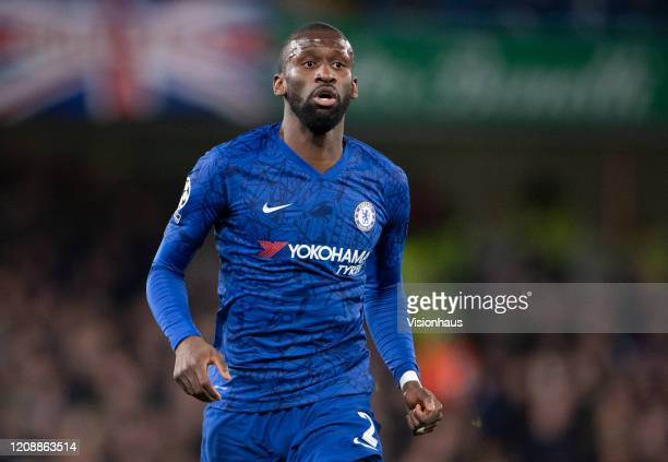 Antonio Rudiger of Chelsea during the UEFA Champions League round of 16 first leg match between Chelsea FC and FC Bayern Muenchen at Stamford Bridge...