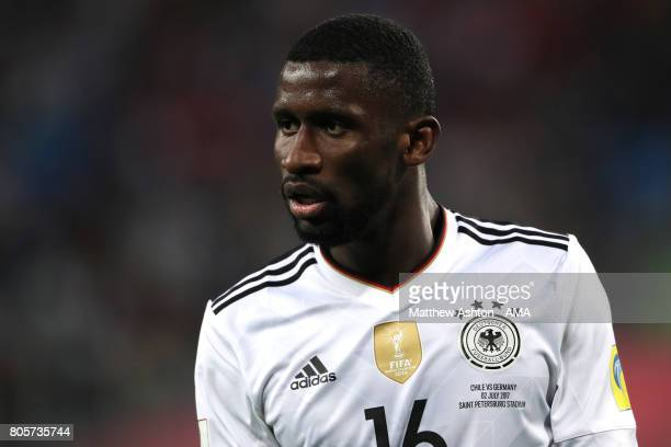 Antonio Rudiger of Germany looks on during the FIFA Confederations Cup Russia 2017 Final match between Chile and Germany at Saint Petersburg Stadium...