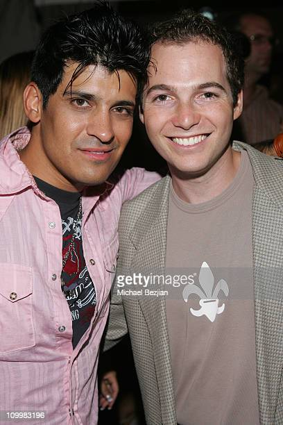 Antonio Rufino and Justin Shenkarow during Jelessy Collection Summer Party August 17 2005 in Hollywood California United States