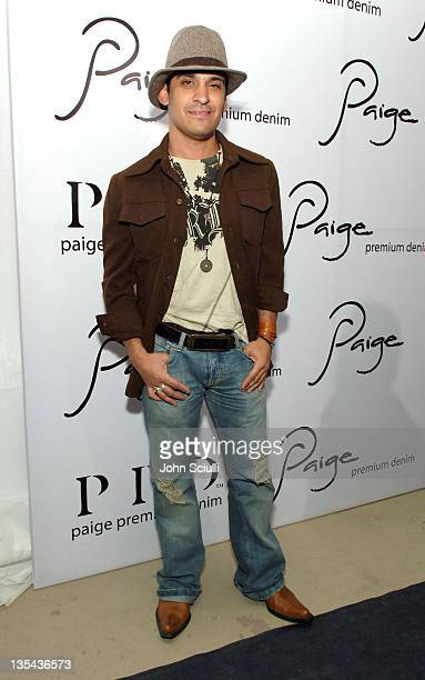 Antonio Rufino during Paige Premium Denim Party Red Carpet and Inside at Paige Premium Denim Flagship Store in Beverly Hills California United States