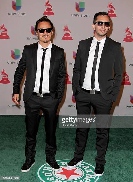 Antonio Ruiz Rodriguez and filmmaker Ruben R Banuelos attend the 15th annual Latin GRAMMY Awards at the MGM Grand Garden Arena on November 20 2014 in...