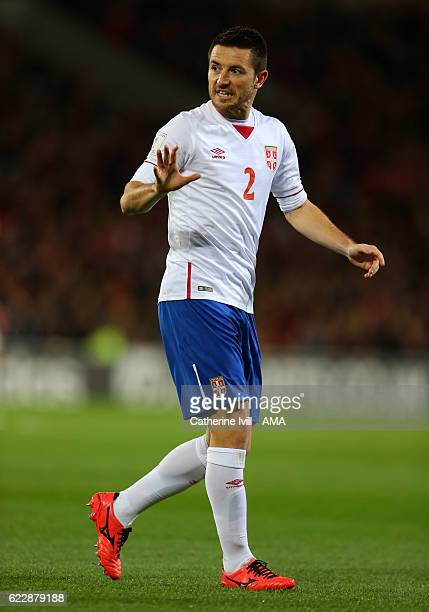 Antonio Rukavina of Serbia during the FIFA 2018 World Cup Qualifier between Wales and Serbia at Cardiff City Stadium on November 12 2016 in Cardiff...