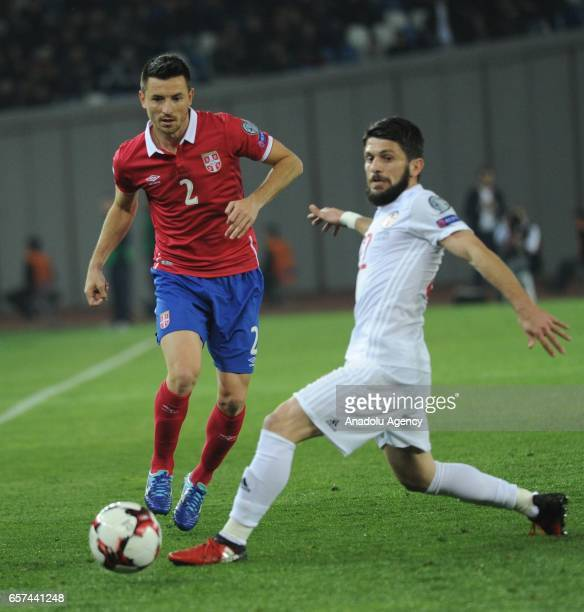 Antonio Rukavina of Serbia in action during the 2018 FIFA World Cup Qualification match between Georgia and Serbia in Tbilisi Georgia on March 24 2017
