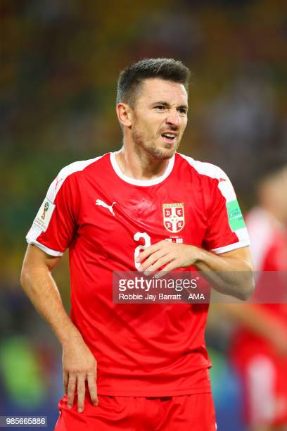 Antonio Rukavina of Serbia in action during the 2018 FIFA World Cup Russia group E match between Serbia and Brazil at Spartak Stadium on June 27 2018...