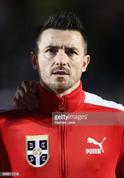 Antonio Rukavina of Serbia pictured ahead of the International Friendly match between Nigeria and Serbia at The Hive on March 27 2018 in Barnet...