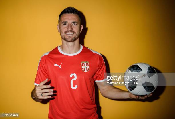 Antonio Rukavina of Serbia poses for a portrait during the official FIFA World Cup 2018 portrait session at on June 12 2018 in Kaliningrad Russia