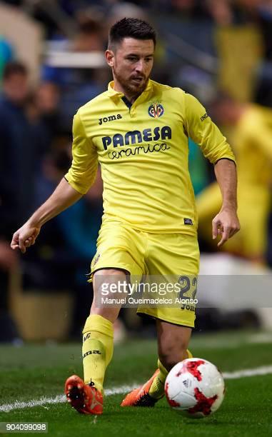 Antonio Rukavina of Villarreal in action during the Copa del Rey Round of 16 second Leg match between Villarreal CF and Leganes at Estadio de La...
