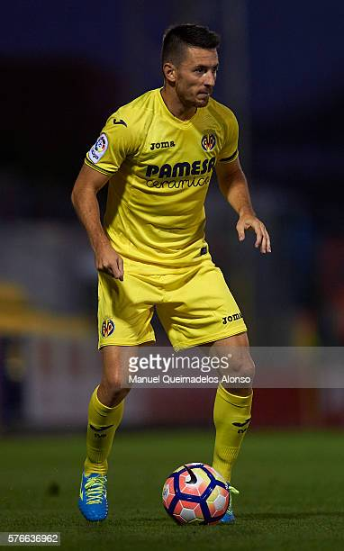 Antonio Rukavina of Villarreal in action during the friendly match between Villarreal CF and CD Hospitalet at Ciudad Deportiva of Miralcamp on July...