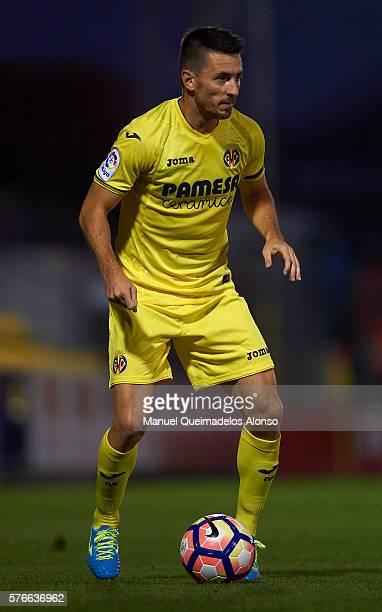 Antonio Rukavina of Villarreal in action during the friendly match between Villarreal CF and CD Hospitalet at Ciudad Deportiva of Miralcamp on July...