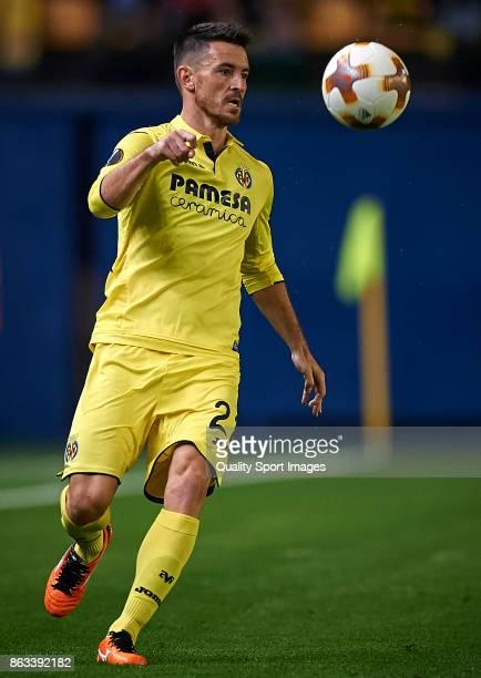 Antonio Rukavina of Villarreal in action during the UEFA Europa League group A match between Villarreal CF and Slavia Praha at Estadio de La Ceramica...