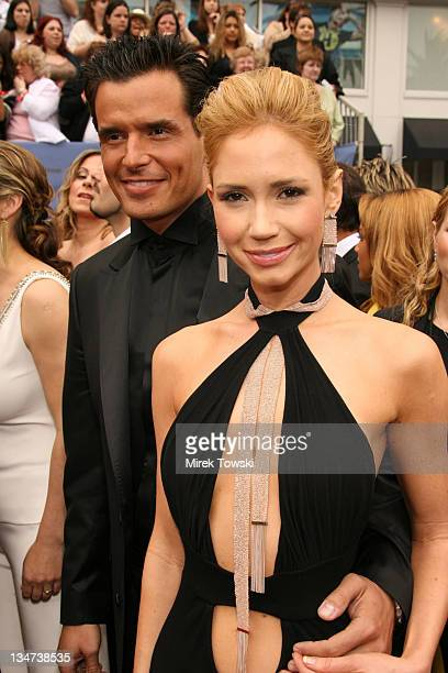 Antonio Sabato Jr and Ashley Jones during The 33rd Annual Daytime Emmy Awards Arrivals at Hollywood Kodak Theater in Hollywood California United...