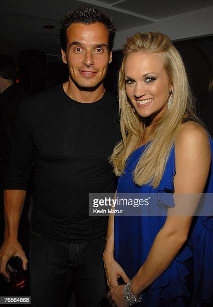 Antonio Sabato Jr and Carie Underwood attend 2007 Fashion Rocks / Belvedere Vodka After Party at The Rainbow Room on September 6 2007 in New York City