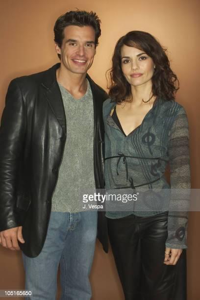 Antonio Sabato Jr and Celina Font during 2003 Toronto International Film Festival Testosterone Portraits at Intercontinental Hotel in Toronto Ontario...