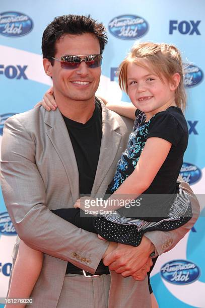 Antonio Sabato Jr and daughter Mina arrive at the American Idol Season 8 Grand Finale held at Nokia Theatre LA Live on May 20 2009 in Los Angeles...