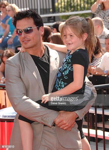 Antonio Sabato Jr and daughter Mina arrive at the American Idol Season 8 Grand Finale held at Nokia Theatre LA Live on May 20 2009 in Los Angeles...