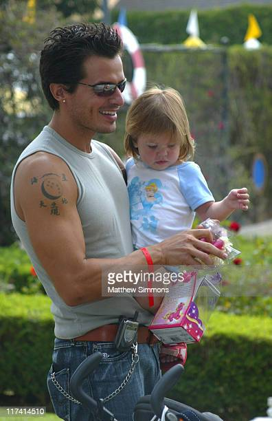 Antonio Sabato Jr and daughter Mina at Hasbro during Hasbro at the Silver Spoon Hollywood Buffet Day Two at Private Residence in Los Angeles...