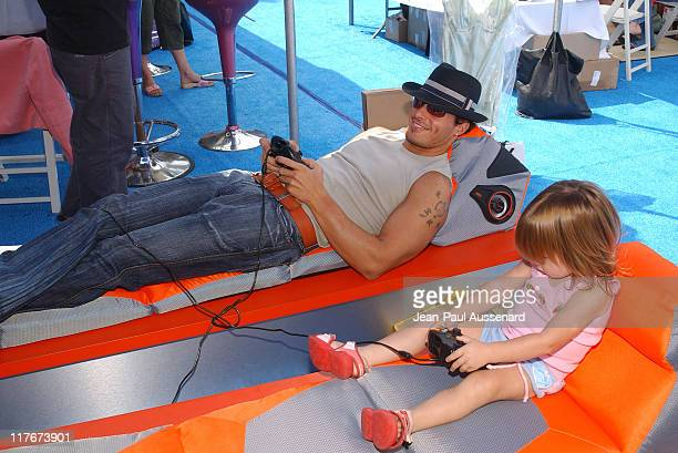 Antonio Sabato Jr and daughter Mina at Pyramat during Silver Spoon Hollywood Buffet Day Two at Private Estate in Los Angeles California United States...